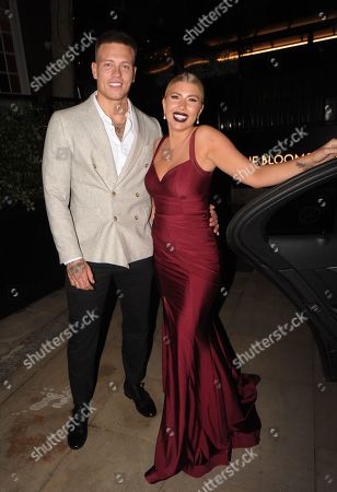 Alex Bowen and Olivia Buckland leaving the Best Heroes Awards at the Bloomsbury Hotel