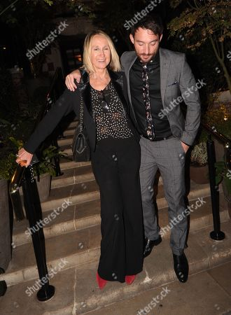 Carol McGiffin Leaving the Best Heroes Awards at the Bloomsbury Hotel