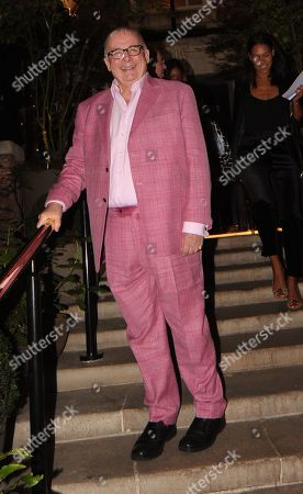 Christopher Biggins Leaving the Best Heroes Awards at the Bloomsbury Hotel