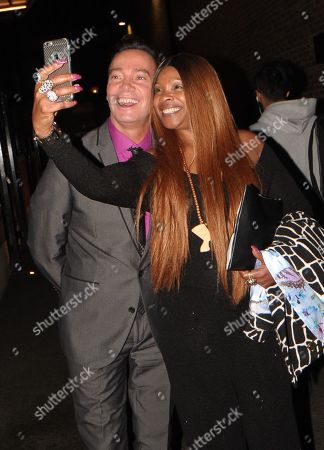 Craig Revel Horwood and Sandi Bogle Leaving the Best Heroes Awards at the Bloomsbury Hotel