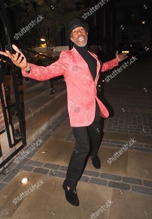 Danny John-Jules Leaving the Best Heroes Awards at the Bloomsbury Hotel