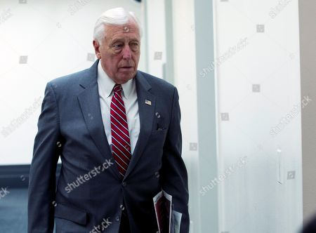 House Majority Leader Steny Hoyer, D-Md., leaves a meeting of the Democratic Caucus at Capitol Hill in Washington