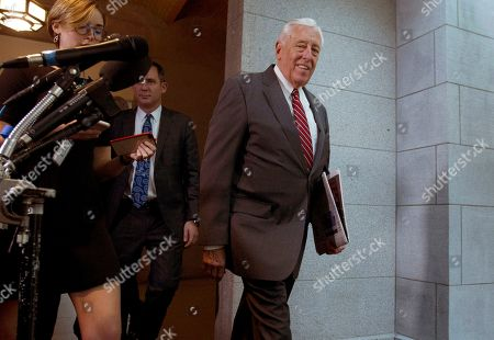 House Majority Leader Steny Hoyer, D-Md., arrives to a meeting of the Democratic Caucus at Capitol Hill in Washington
