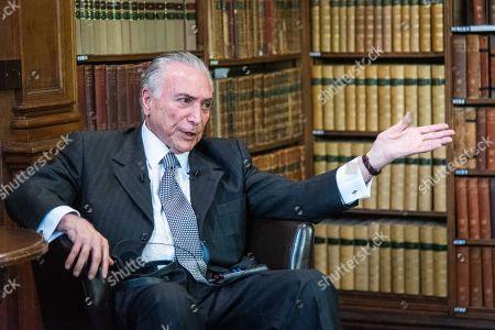 Michel Temer, former President of Brazil, speaking at Oxford Union
