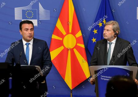 Editorial picture of North Macedonia prime minister visits EU Commission, Brussels, Belgium - 16 Oct 2019