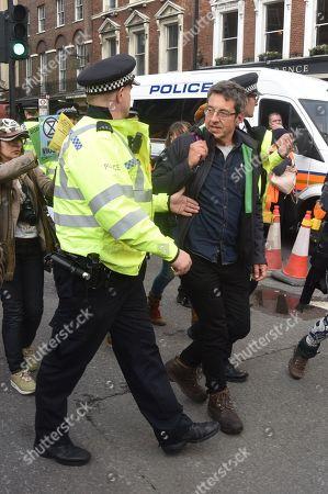 Stock Photo of Guardian columnist George Monbiot gets arrested