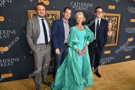 Jason Clarke, Casey Bloys, Helen Mirren and Philip Martin