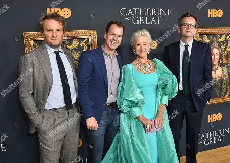 Stock Picture of Jason Clarke, Casey Bloys, Helen Mirren and Philip Martin