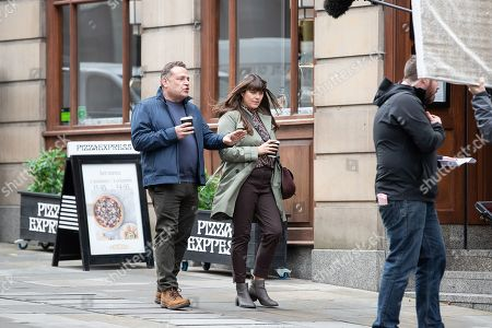 Editorial photo of 'Cold Feet' on set filming, Manchester, UK - 16 Oct 2019