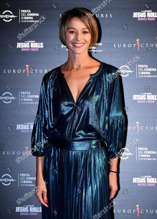 Nicole Grimaudo poses at the premiere of his movie 'The Jesus Rolls' in Rome, Italy, 16 October 2019, on the eve of the opening of the 14th Rome Film Fest that runs from 17 to 27 October 2019.