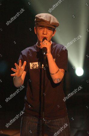 Stock Photo of 'Stars in Their Eyes: Kids' TV - 2006 David Goosen performs as Gary Jules.