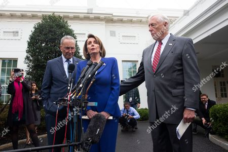 Editorial image of Congressional Democratic leaders deliver remarks following a meeting at the White House on the US withdrawal from Syria, Washington, USA - 16 Oct 2019