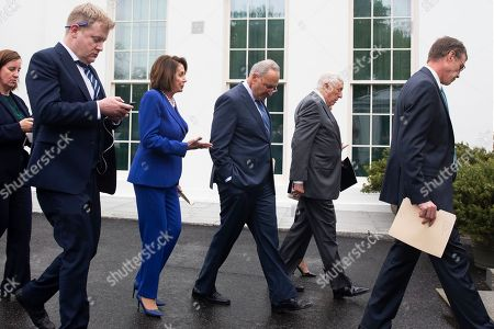 Editorial picture of Congressional Democratic leaders deliver remarks following a meeting at the White House on the US withdrawal from Syria, Washington, USA - 16 Oct 2019
