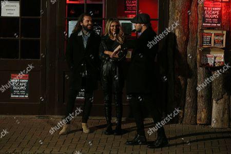 Peter Wicks, James Lock and Chloe Sims