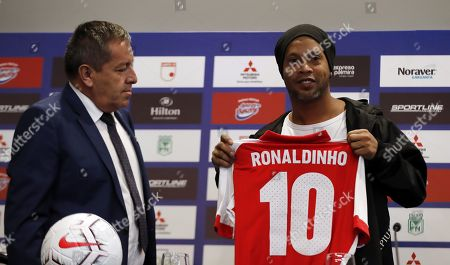 Editorial photo of Ronaldinho Gaucho press conference in Bogota, Colombia - 16 Oct 2019