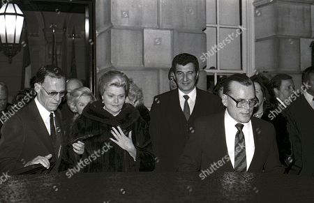 Jack Kelly (Grace Kelly's Brother) with Grace's younger sister Liz Levine at car leaving the Princess Grace Foundation gala