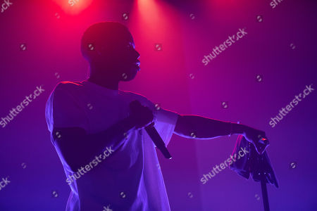 Editorial image of Daniel Caesar in concert at O2 Academy Brixton, London, UK - 16 Oct 2019