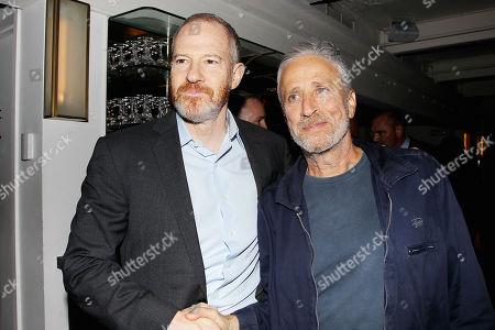 Toby Emmerich and Jon Stewart