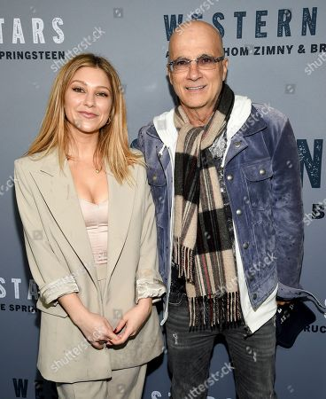 """Jessica Iovine, Jimmy Iovine. Music producer Jimmy Iovine, right, and daughter Jessica Iovine attend the special screening of """"Western Stars"""" at Metrograph, in New York"""