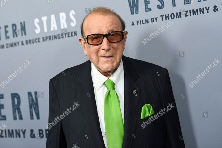 """Music producer Clive Davis attends the special screening of """"Western Stars"""" at Metrograph, in New York"""
