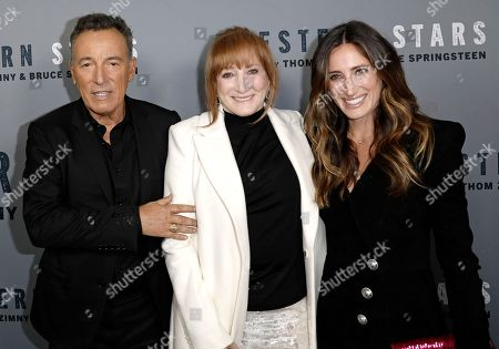 Bruce Springsteen (L), his wife Patti Scialfa (C) and his daughter Jessica (R) attend the New York special screening of the documentary film 'Western Stars' at the Metrograph Theatre in New York, New York, USA, 16 October 2019.