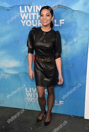 """Ginger Gonzaga arrives at the Los Angeles premiere of """"Living With Yourself"""", at ArcLight Hollywood"""