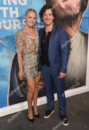 "Stock Picture of Malin Akerman, Jack Donnelly. Malin Akerman, left, and Jack Donnelly arrive at the Los Angeles premiere of ""Living With Yourself"", at ArcLight Hollywood"