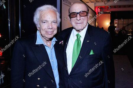 Stock Photo of Ralph Lauren and Clive Davis