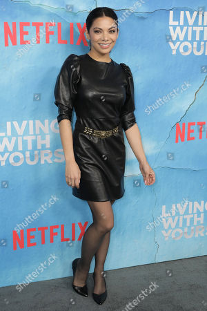Stock Photo of Ginger Gonzaga poses on the red carpet during the premiere of Netflix new series 'Living With Yourself', at the ArcLight Hollywood cinema in Los Angeles, California, USA, 16 October 2019. The series will air on Netflix on 18 October 2019.