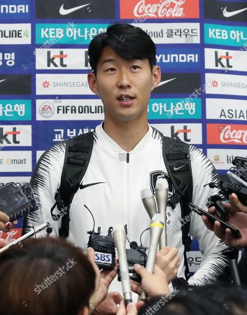 Editorial photo of South Korean soccer players return home from World Cup qualifier against North Korea, Incheon - 17 Oct 2019