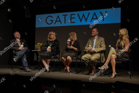 Ryan Hampton, Jen Wysong, Jennifer Weiss-Burke, Dr. Richard Chudacoff, Dana Richie. Ryan Hampton, Jen Wysong, Jennifer Weiss-Burke, Dr. Richard Chudacoff and Dana Richie discuss the launch of a new documentary called GATEWAY - a film about three families inadvertently impacted by opioid addiction following surgery, in New York at The Helen Mills Theatre