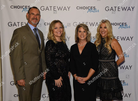 Stock Photo of Dr. Richard Chudacoff, Jen Wysong, Jennifer Weiss-Burke, Dana Richie. Dr. Richard Chudacoff, Jen Wysong, Jennifer Weiss-Burke and Dana Richie at the premiere of the new documentary GATEWAY - a film about three families inadvertently impacted by opioid addiction following surgery, in New York at The Helen Mills Theatre