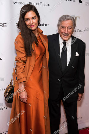 Katie Holmes, Tony Bennett. Katie Holmes and Tony Bennett attend the American Ballet Theatre Fall Gala at the David H. Koch Theater, in New York
