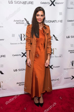 Katie Holmes attends the American Ballet Theatre Fall Gala at the David H. Koch Theater, in New York