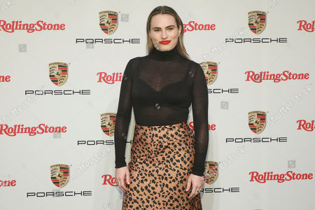 """Kathryn Gallagher attends the Rolling Stone and Porsche """"911 Experience"""" launch event at Terminal 5, in New York"""