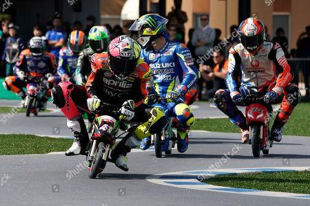 Editorial image of Mini moto racing event ahead of Japan Motorcycling Grand Prix, Motegi - 17 Oct 2019