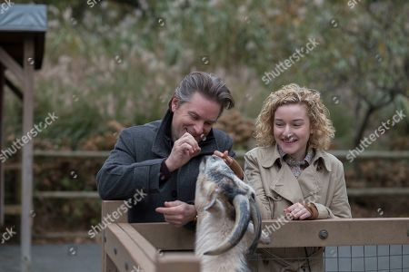 Stock Picture of Shea Whigham as Peter and Julia Garner as Maddy