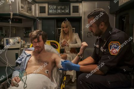 Stock Picture of John Gallagher Jr as Rob and Sofia Boutella as Yasmine