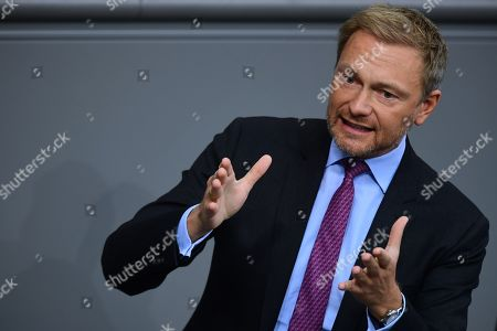 Free Democratic Party (FDP) chairman and faction chairman in the German parliament Bundestag Christian Lindner speaks to the German Bundestag in Berlin, Germany, 17 October 2019. Merkel delivered a government declaration to the members of the German parliament Bundestag prior to an EU summit in Brussels on 17 October 2019.