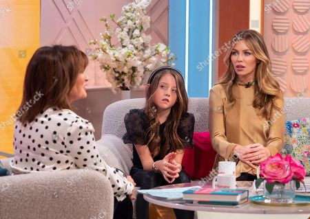Lorraine Kelly, Abigail Clancy and daughter Sophia Ruby Crouch