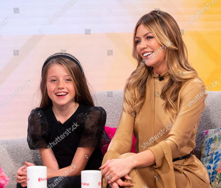 Stock Picture of Abigail Clancy and daughter Sophia Ruby Crouch