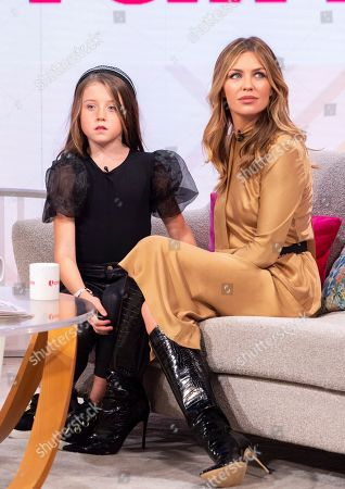 Stock Image of Abigail Clancy and daughter Sophia Ruby Crouch