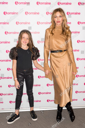 Stock Photo of Abigail Clancy and daughter Sophia Ruby Crouch
