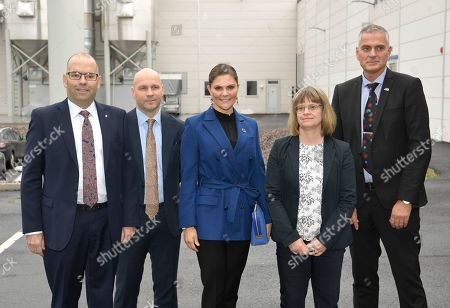 Stock Photo of Crown Princess Victoria during her visit to the Swedish Plastic Recycling plant in Motala. The plant is Europe's largest plant for plastic recycling.