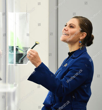 Editorial image of Crown Princess Victoria visits the Swedish Plastic Recycling plant, Motala, Sweden  - 17 Oct 2019