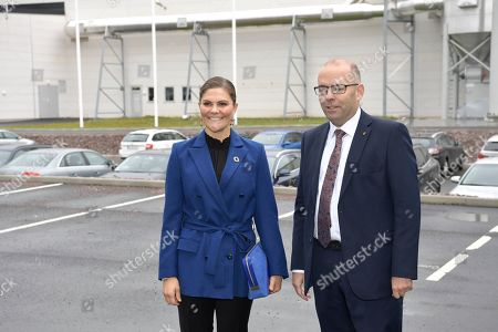 Stock Picture of Crown Princess Victoria during her visit to the Swedish Plastic Recycling plant in Motala. The plant is Europe's largest plant for plastic recycling.