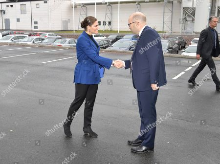 Crown Princess Victoria during her visit to the Swedish Plastic Recycling plant in Motala. The plant is Europe's largest plant for plastic recycling.
