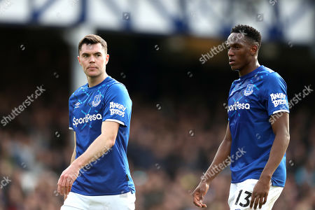Everton defensive partnership Michale Keane and Yerry Mina