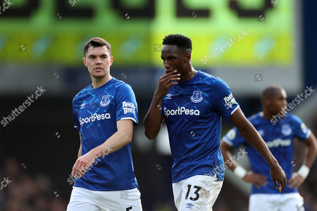 Stock Photo of Michale Keane and Yerry Mina of Everton