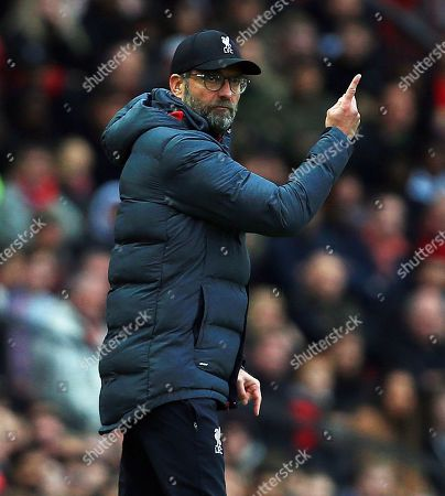 Stock Picture of Liverpool manager Jurgen Klopp points